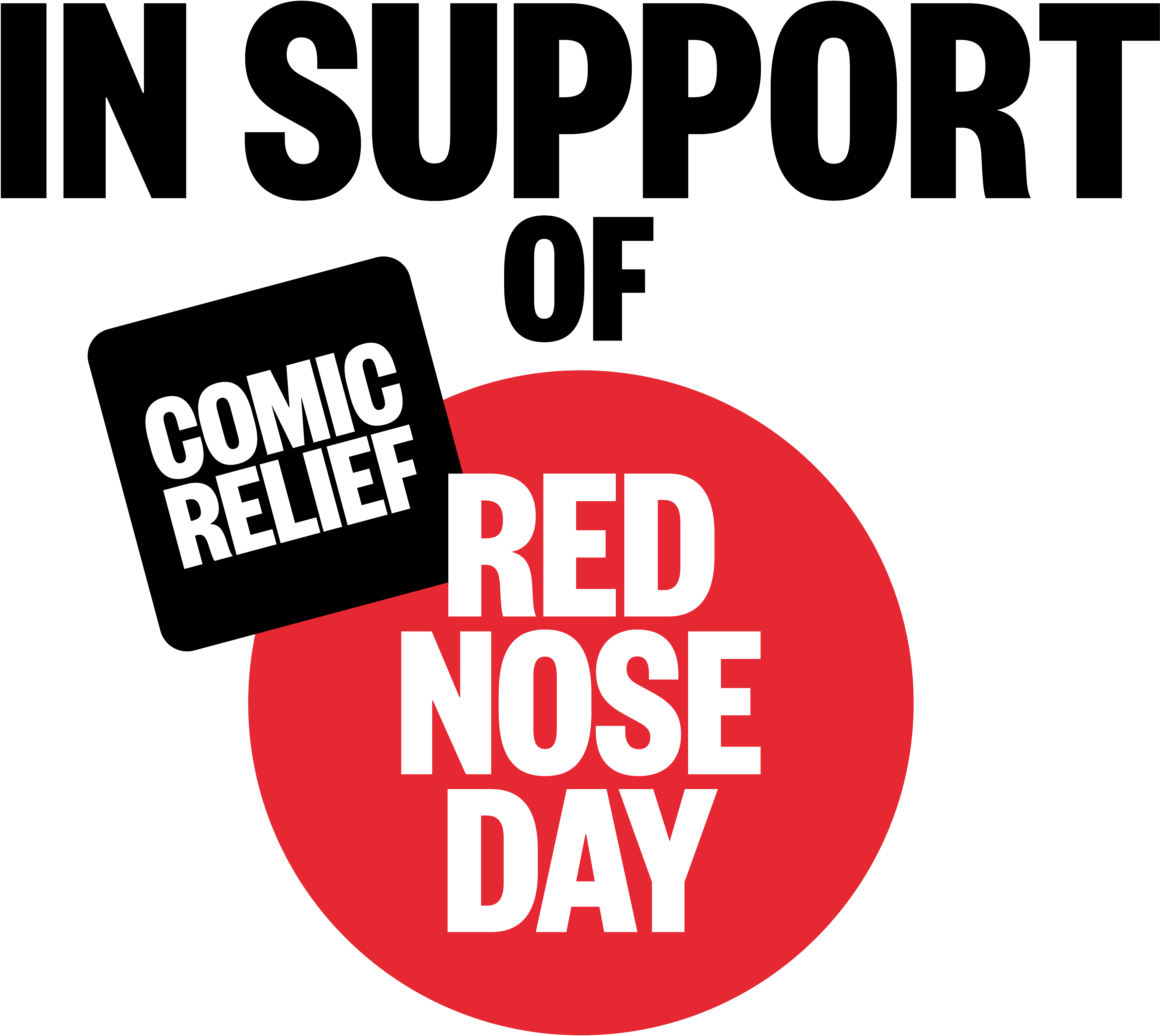 Comic Relief Red Nose Day in support of logo